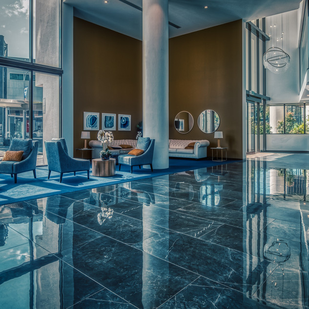 Cold lobby.