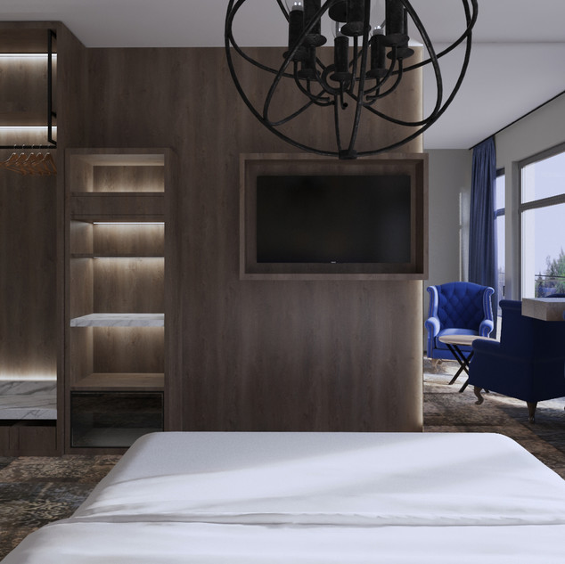 Visualisering hotellrum.