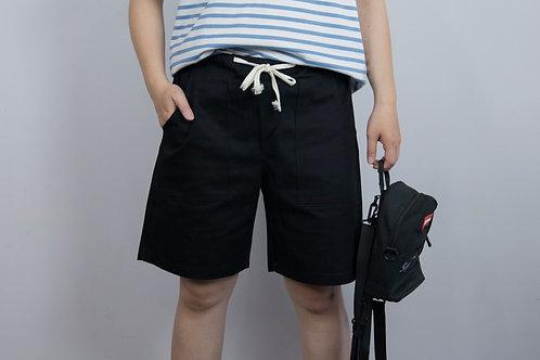 3色|素面抽繩大口袋休閒褲