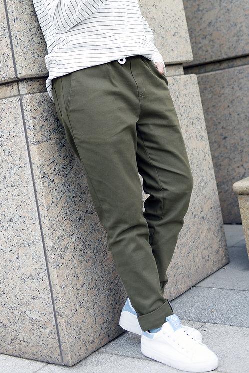 抽繩工作褲-軍綠|絕版