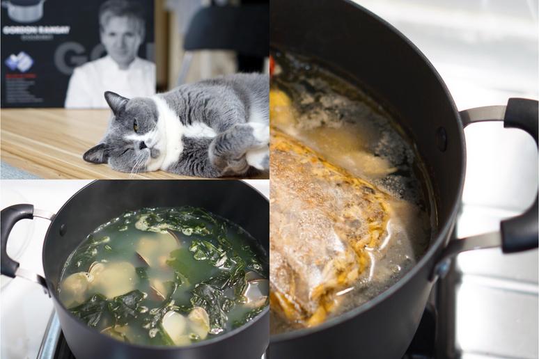 """用好鍋輕鬆做兩道韓式料理""""海帶蛤蠣湯&人蔘雞粥"""" 家樂福集點換鍋具"""