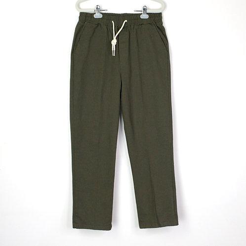 軍綠抽繩工作褲