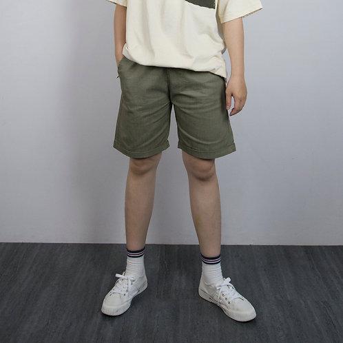 4色|抽繩反折休閒短褲