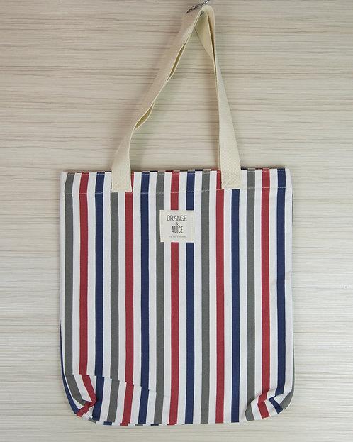 彩色條紋帆布袋 書袋 環保袋
