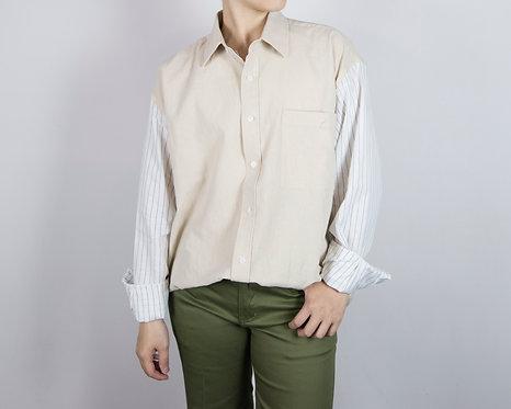 拼接設計休閒襯衫