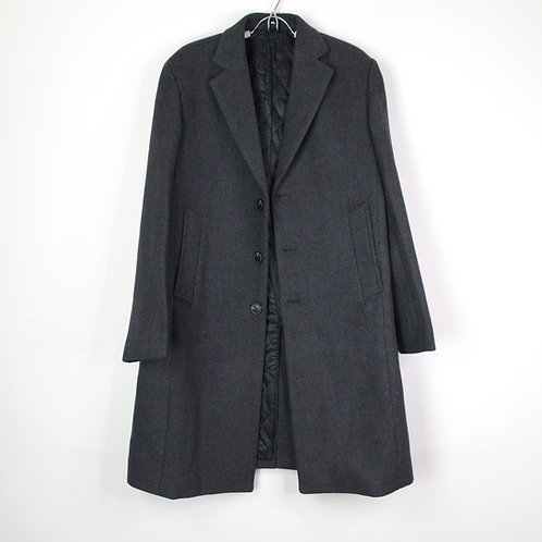 羊毛混紡保暖大衣-深灰