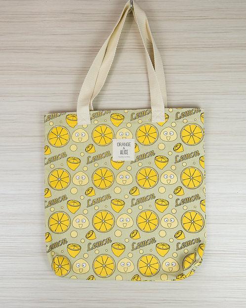 好多檸檬帆布袋 書袋 環保袋