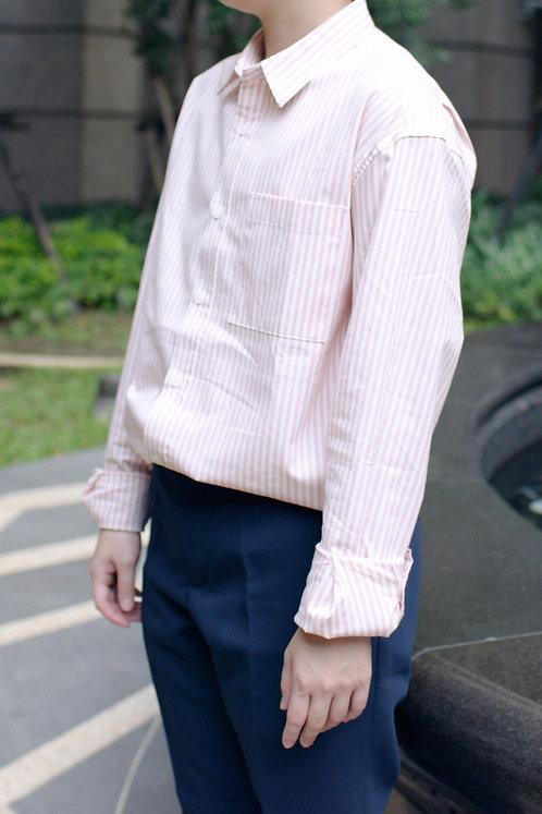 條紋襯衫-粉色|絕版