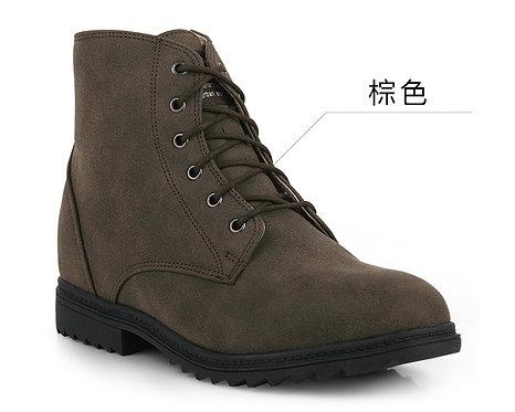 三色 內增高高幫靴