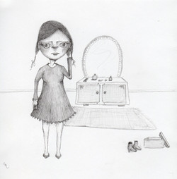 Girl and her shoes