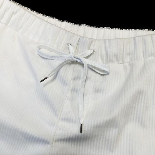 White Snow Corduroy Velvet Swimwear