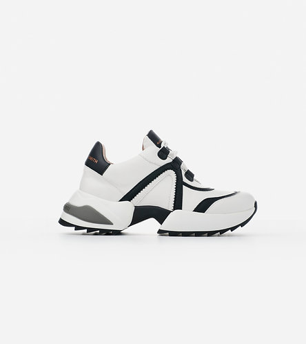 Women Sneakers Marble - White Black