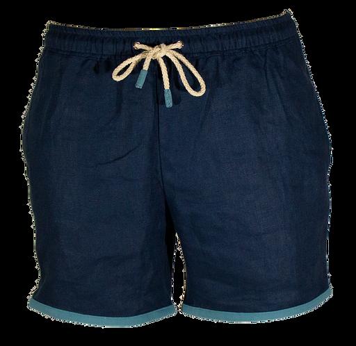Tahiti Blue Linen Swimwear