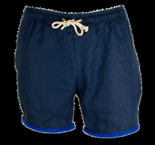 Mediterranean Blue Linen Swimwear