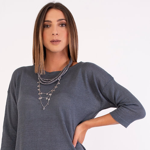 Coated Cashmere Necklace CB103
