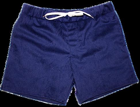 Night Blue Corduroy Velvet Swimwear