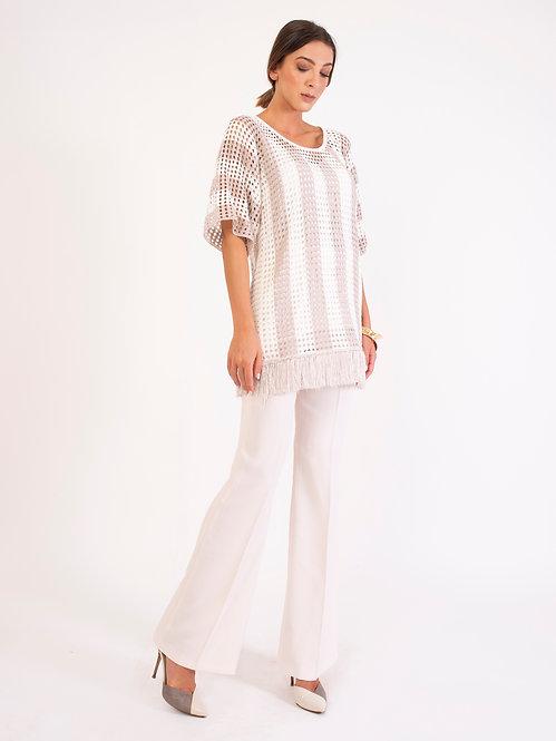 Cotton Viscose Fringe Shirt D2136