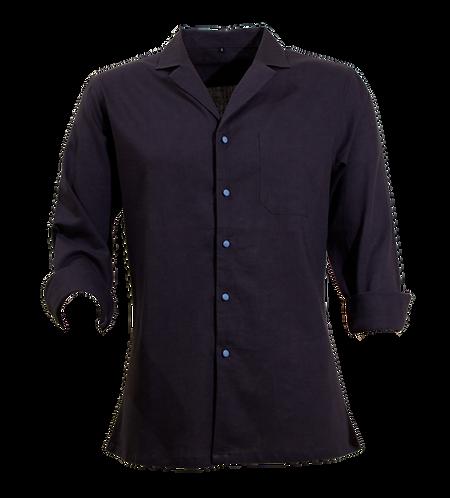 Blue Cuban Linen Shirt