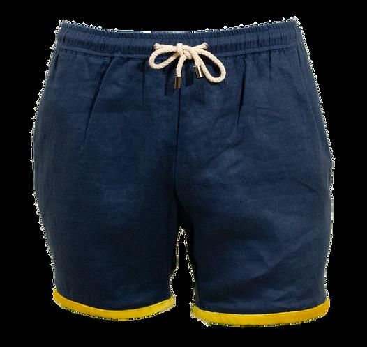 Sahara Blue Linen Swimwear