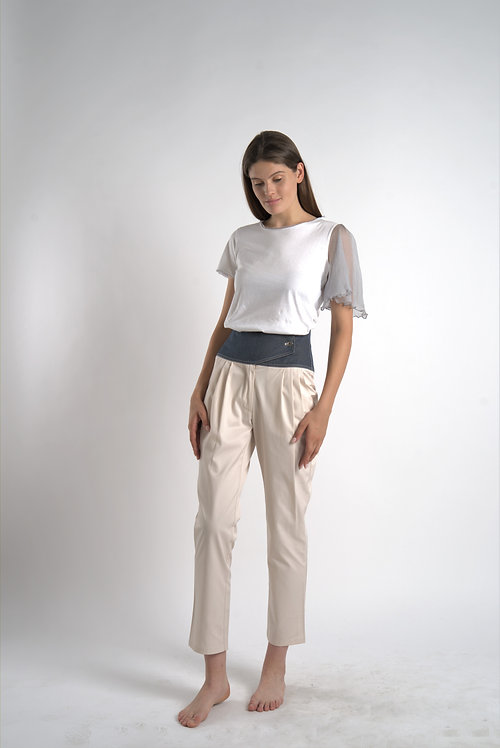 Jeans Corset Waist Pants