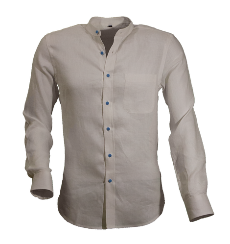 White Korean Linen Shirt
