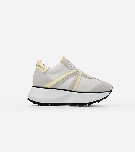 Women Sneakers Chelsea - White Yellow