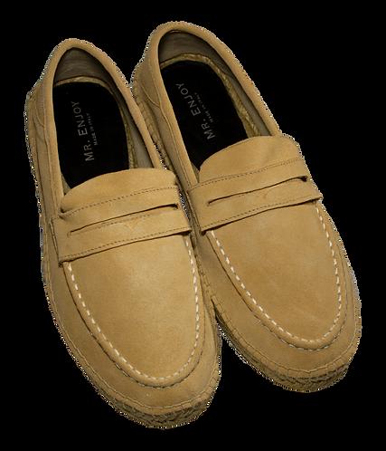 Leather Beige Espadrilles Shoes