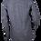 Thumbnail: Striped Dark Blue V-neck Linen Shirt