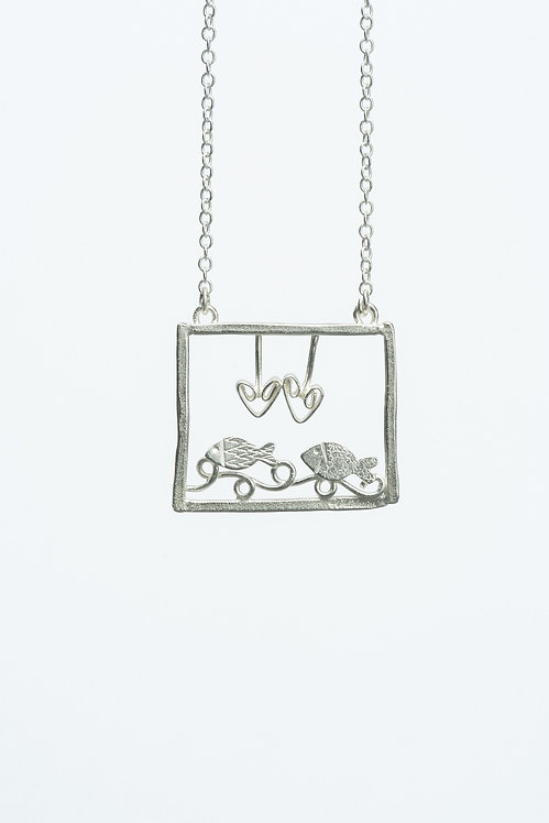 Fish in Love Necklace