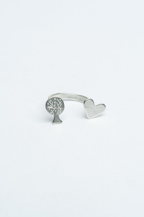 Tree and Heart Ring