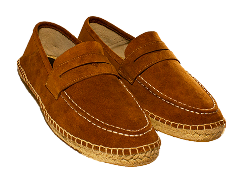 Leather Almond Brown Espadrilles Shoes