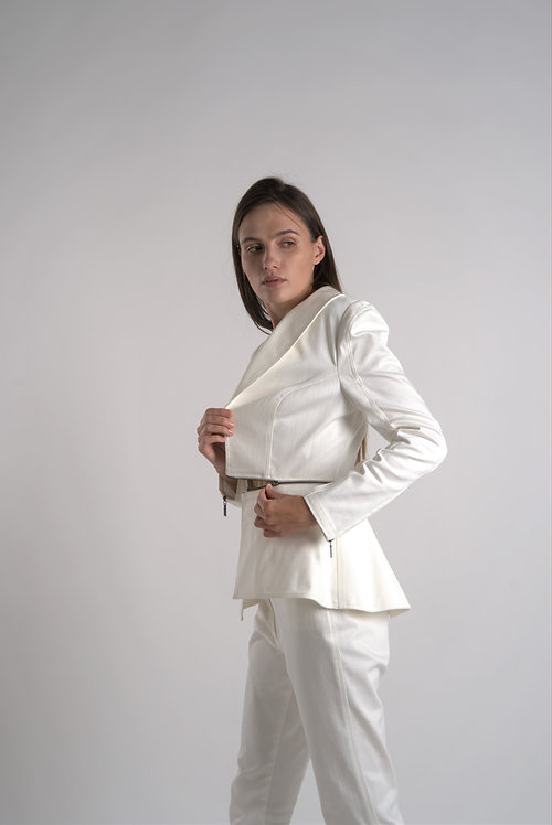 Cotton Suit with Two-Looks Jacket