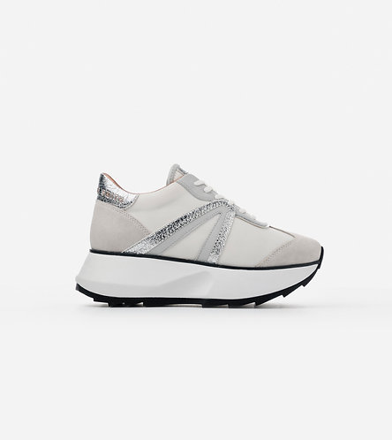 Women Sneakers Chelsea - White Silver