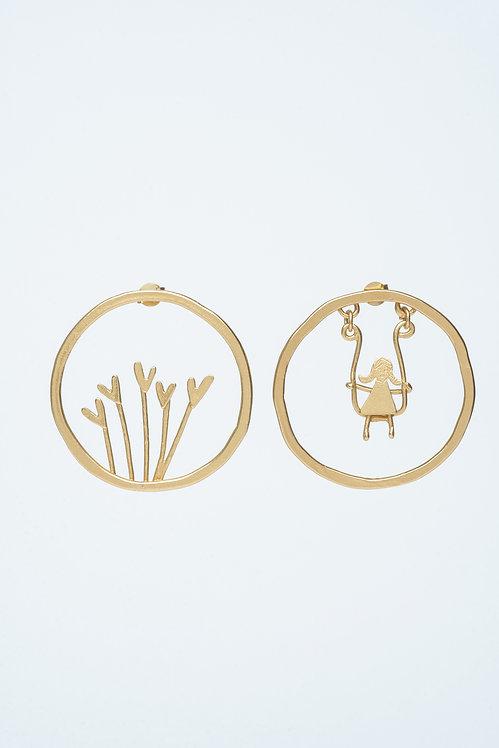 Heart and Swing Earrings