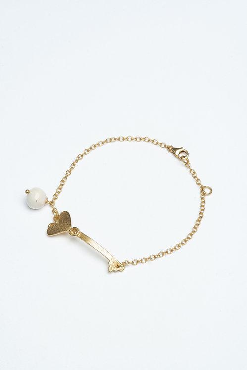 Key with Heart Bracelet