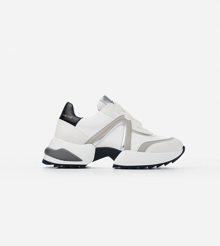 Women Sneakers Marble - White Silver