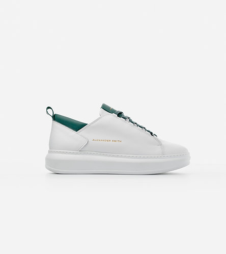 Men Sneakers Wembley - White-Black/Cognac/Petrol