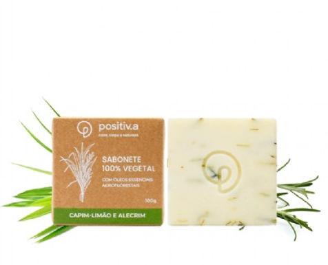 Sabonete Vegetal de Capim-Limão e Alecrim Positiva 100g