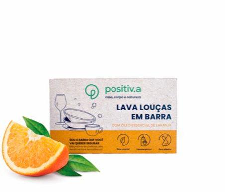 Lava Louças em Barra  com Óleo Essencial de Laranja Positiva 100g