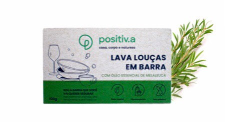 Lava Louças em Barra com Óleo Essencial de Melaleuca Positiva 100g