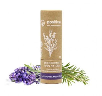 Desodorante 100% Natural de Lavandin e Melaleuca Positiva