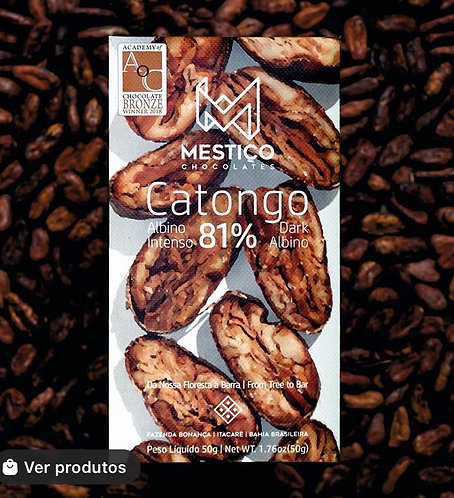 Chocolate Catongo Forastero Albino Intenso  81% Mestiço 50g