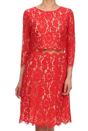 Cherry Lace Skirt