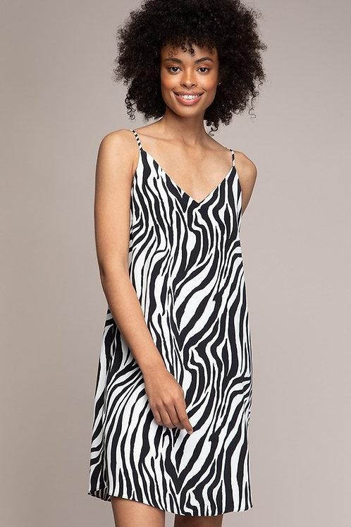 Zebra slip dress