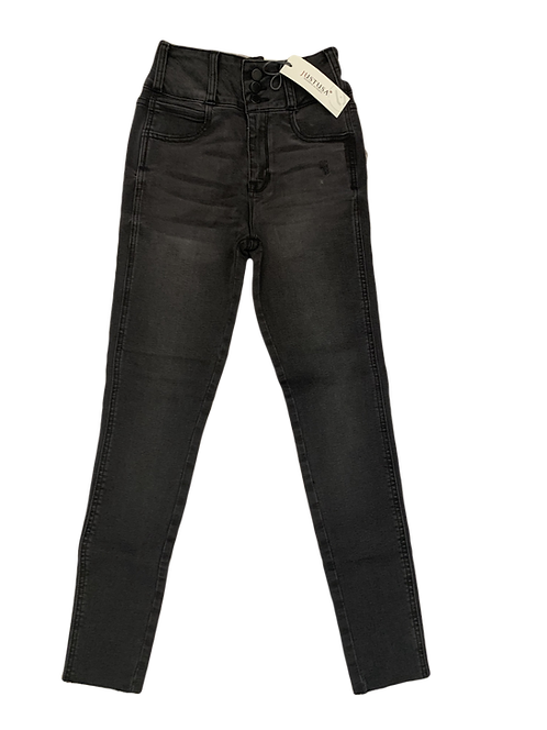 Just USA JP050-BLK Button down waist band skinny