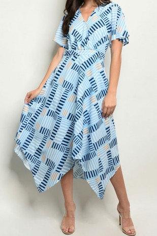 Taupe print maxi dress