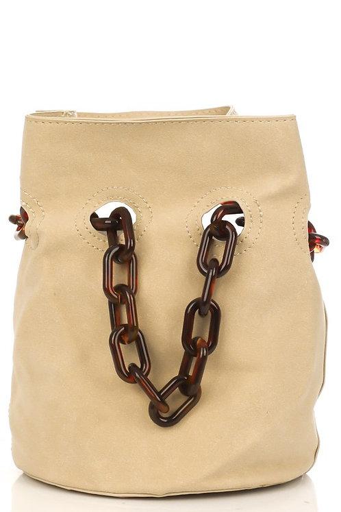 Tortoise chain bucket bag