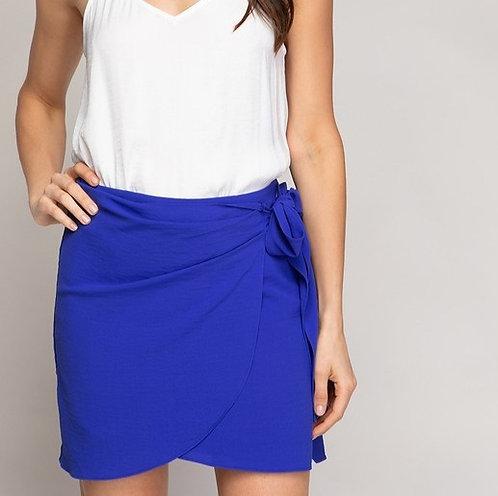 Capri Wrap Mini Skirt