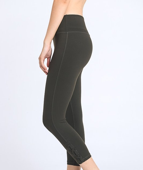 Olive Cropped Leggings