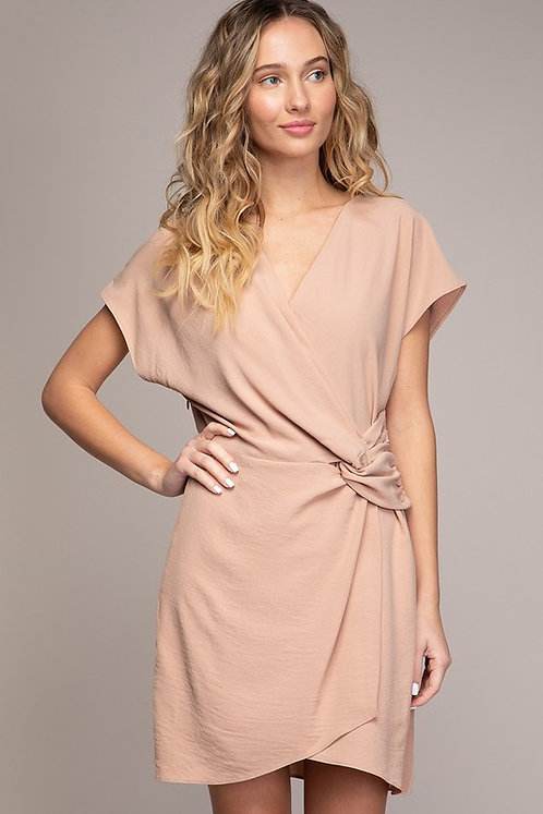 Twisted Champagne Dress